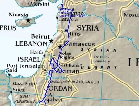 Jordanien Karte.Hermann Und Martina Auf Tour Syrien Und Jordanien September 2011